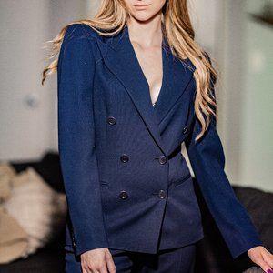 RALPH LAUREN Wool Blue 2-Piece Suit Set